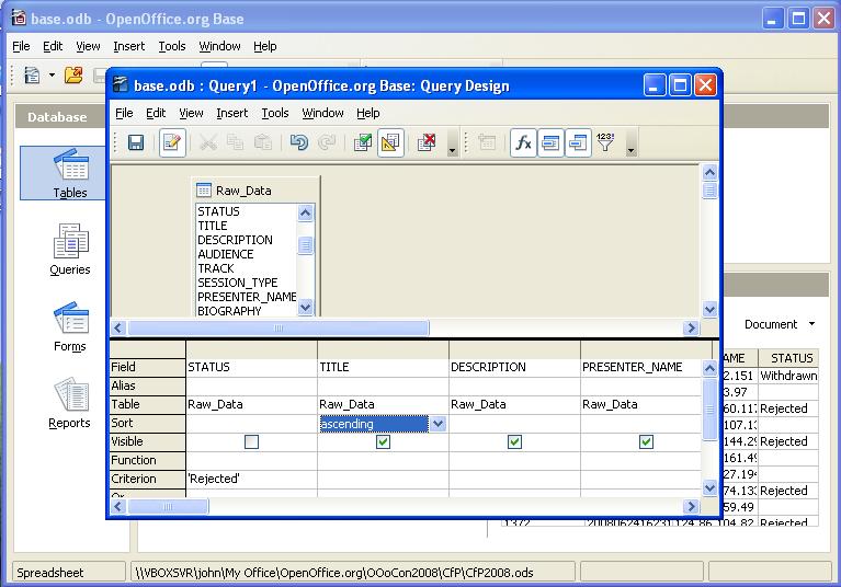 Openoffice information 8daysaweek base screenshot click for a larger image altavistaventures Image collections